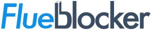 the flueblocker logo which chimney sheep has been rebranded as in the US