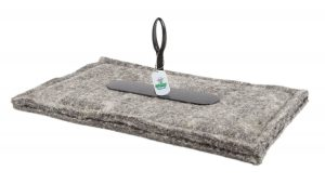 chimney sheep herdwick wool chimney draught excluder size 12 x 20 upside down diagonal on white background
