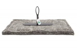 chimney sheep herdwick wool chimney draught excluder size 12 x 20 upside down on white background
