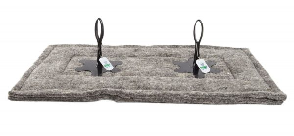 chimney sheep herdwick wool chimney draught excluder size 14 x 28 upside down straight facing on white background