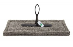 chimney sheep size 16 x 6 herdwick wool chimney draught excluder upside down on white background