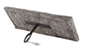 chimney sheep herdwick wool chimney draught excluder size 12 x 20 with short handle on white background