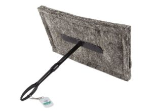 16 x 9 Chimney Sheep herdwick wool chimney draught excluder on white background with long handle