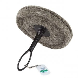 Chimney Sheep herdwick wool chimney draught excluder on white background with short handle