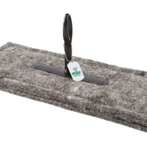 "Herdwick Wool Chimney Sheep Chimney Draught Excluder 8"" x 20"" upside down on white background"