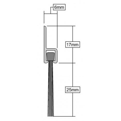 door brush seal diagram -1m