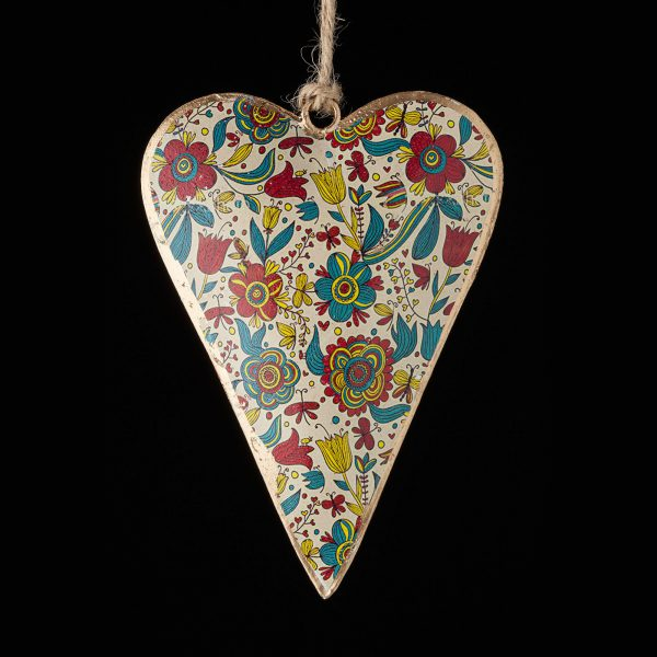 Hand-Painted-Heart-White-Turqouise-Red-Flowers