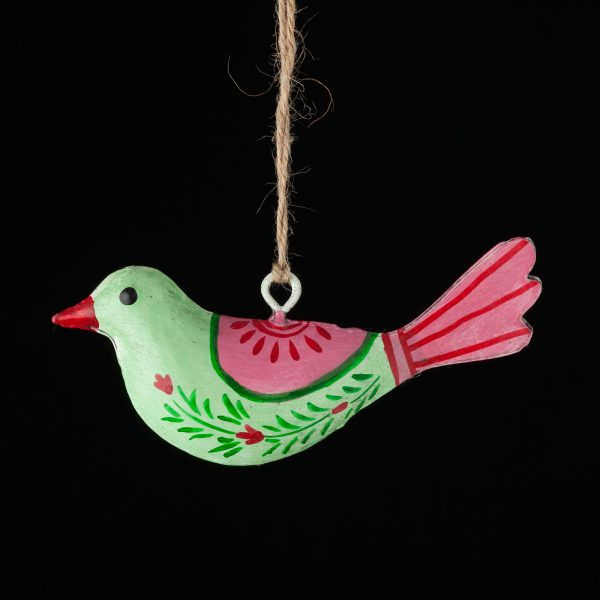 Chimney Sheep Iron Bird - Mint Green and Red