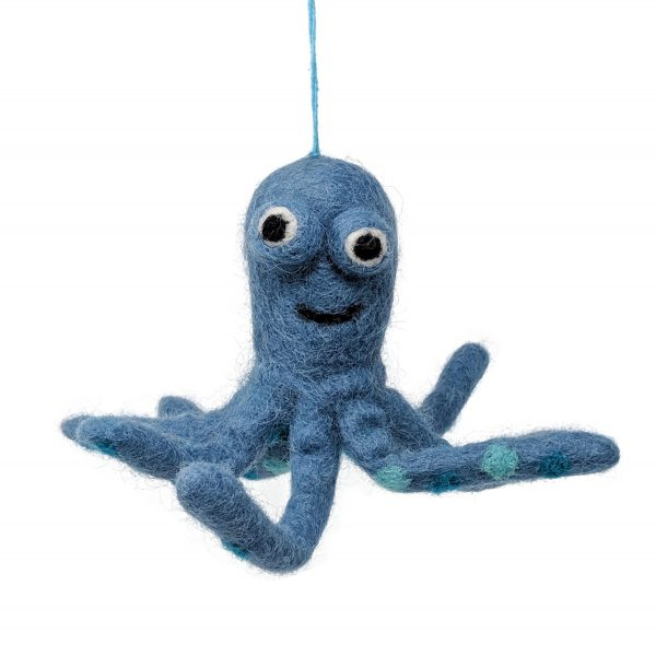 woolly felted octopus