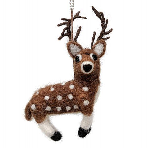 woolly felted deer