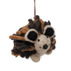 woolly felted hedgehog
