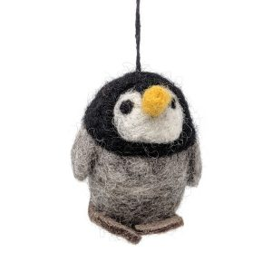 woolly felted penguin