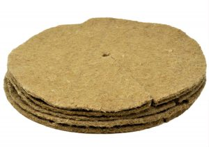 pack of 5 jute tree spat mulch mats