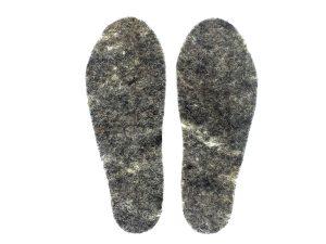 womens snug feet insoles made of felted Herdwick wool