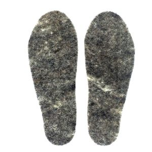 womens snug feet insoles made of felted Herdwick wool