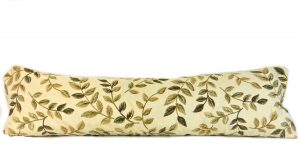 swirly green leaves door draught excluder