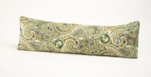 Door draught excluder - green with an italian paisley design 1 metre.