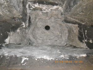 A large chimney sheep squashed into place in a flue