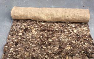 Biodegradable Mulch Mat Rolls - garden mulch for large areas