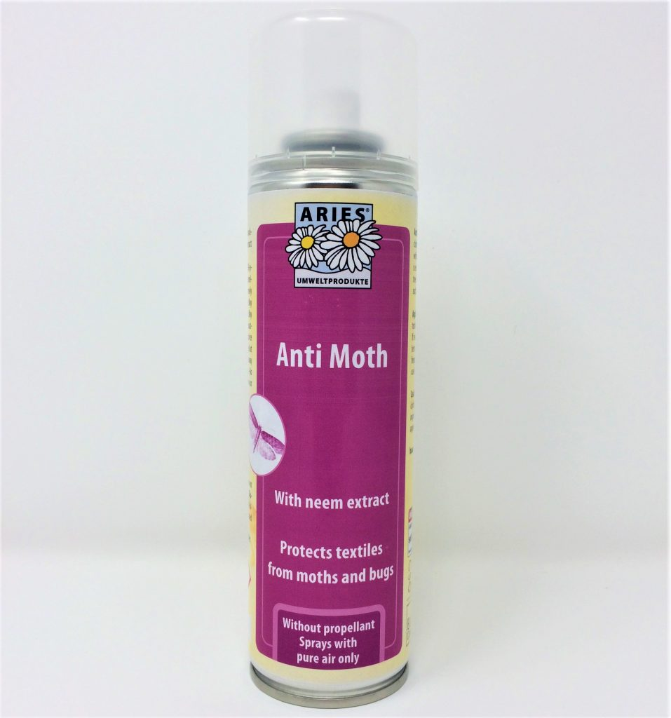 A can of Anti moth spray with neem extract