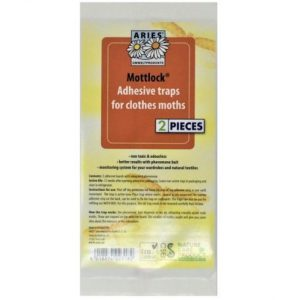 paper packet of Mottlock Moth pheromone Trap sticky inserts refill pack of two
