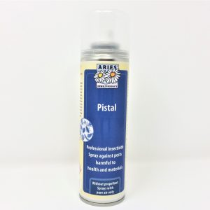 a can of pistal professional insecticide, made of natural ingredients