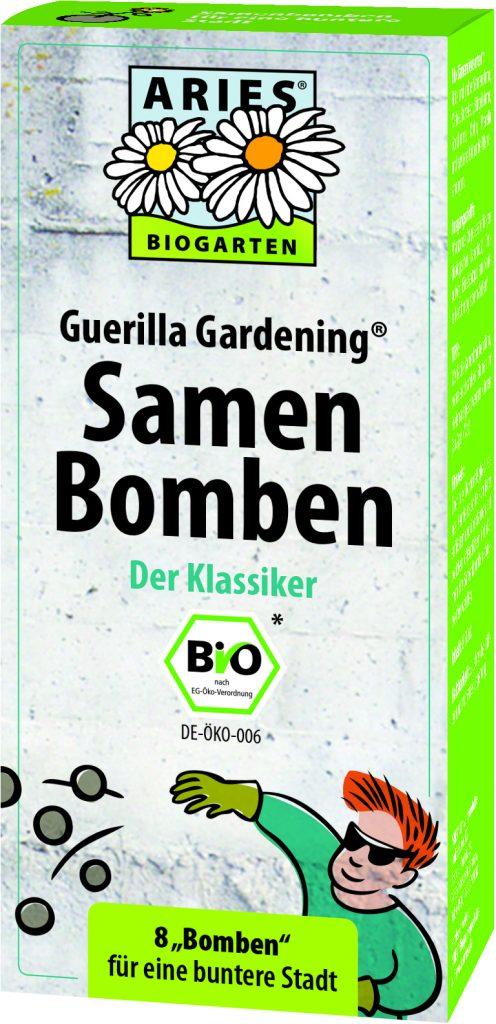 pack of eight seed bombs withimage of junior guerrilla gardener