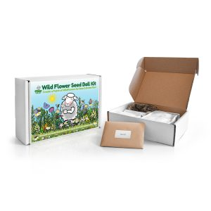 Seedball kit with contents showing