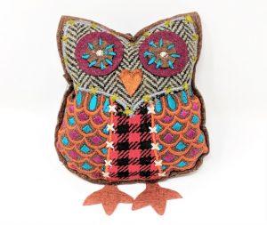 Fairly traded tweedy dangly owl chimney sheep dangle