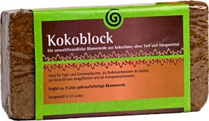 kokoblock peat free compost made of coconut coir