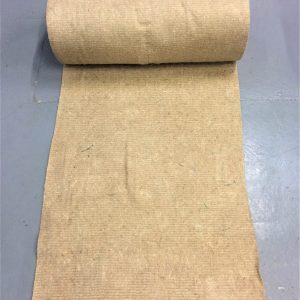 roll of 100% natural felted jute weed control for hedging