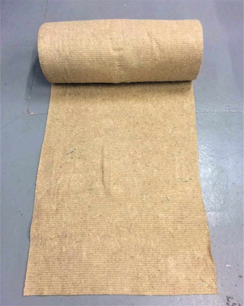 roll of 100% natural felted jute weed control