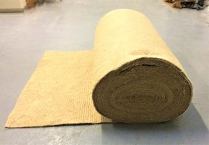 5mm thick 1m wide felted jute on a roll for natural weed control matting