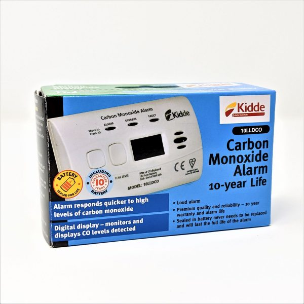Kidde carbon monoxide detector with integral batteries