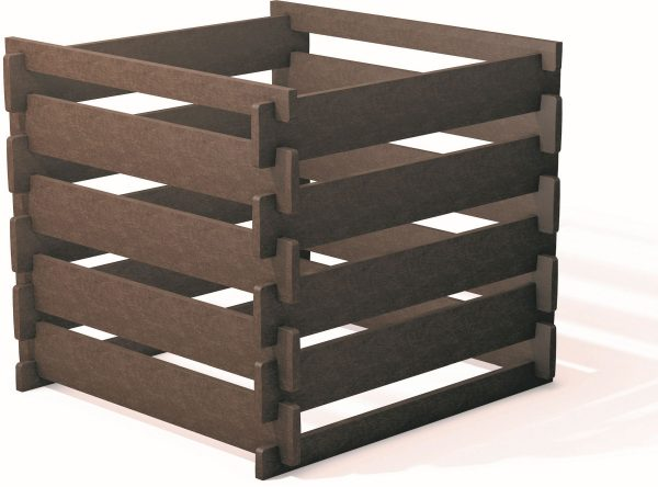 slatted recycled plastic wood composter