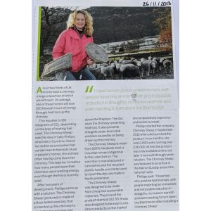 Chimney Sheep article - innovation product winner green ends economy awards - eco innovation