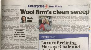 Wool Firms clean sweep - chimney sheep article in daily expres