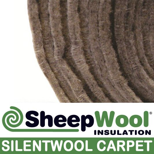 pure wool underlay on a 25m roll