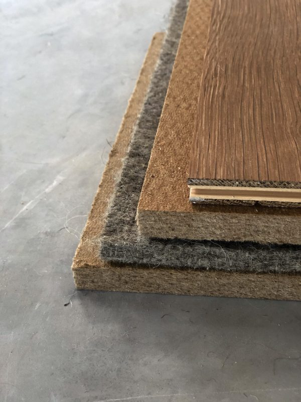 pure wool underlayment for wooden and laminate flooring