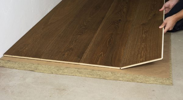 wool and paper unlayment for wooden flooring