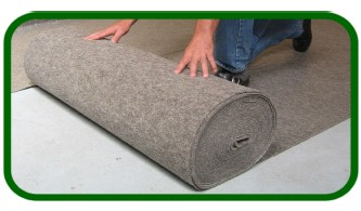 pure wool underlay being fitted