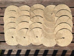 8″ / 20cm jute mulch mats pack of 25