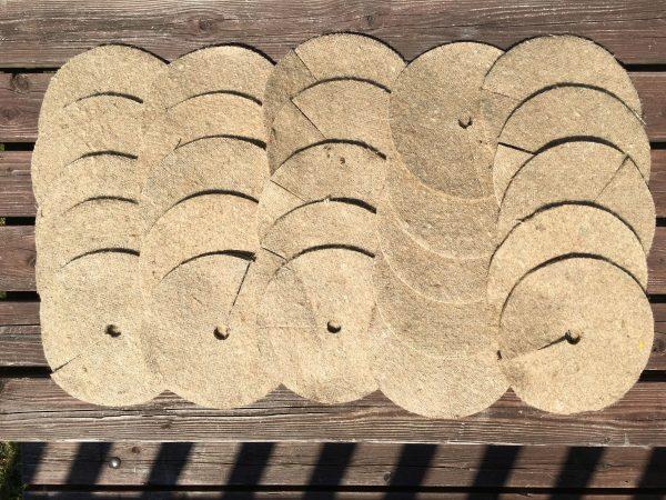 8″ / 20cm jute mulch mats pack of 25