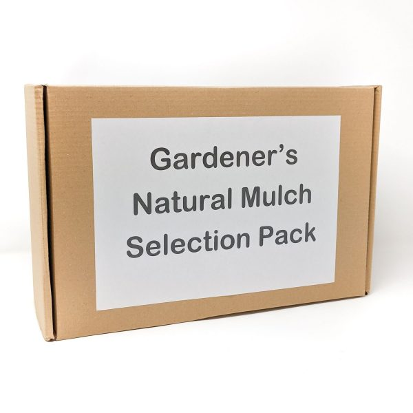gardeners natural mulch selection pack box with label
