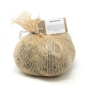 sheep wool nest material in hessian bag