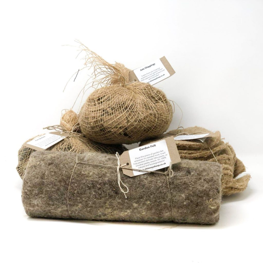 image of gardeners natural mulch selection pack components