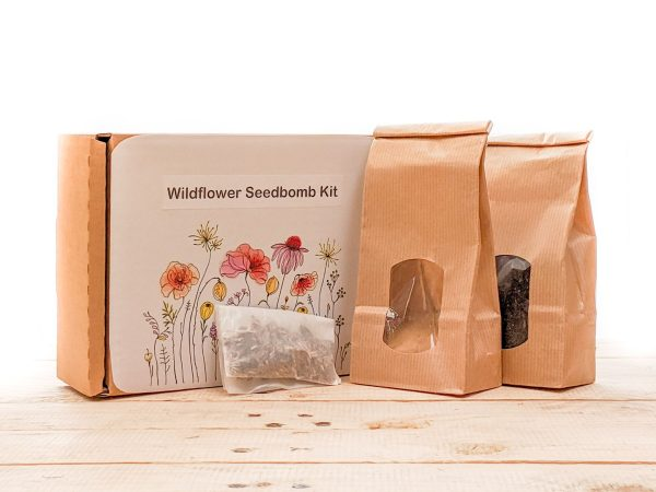 wildflower seedbomb kit to make your own seed balls