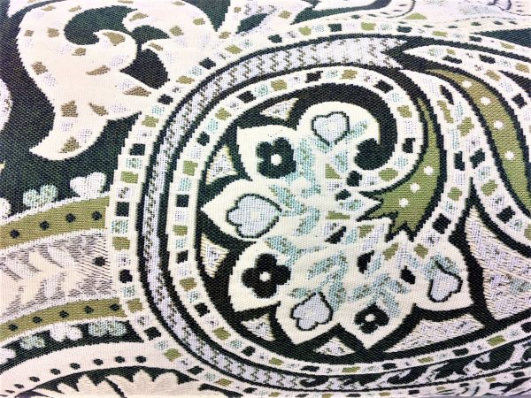 swirly green blue and grey paisley Chimney Sheep door draught excluder