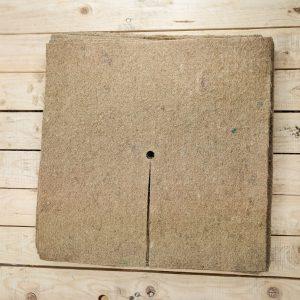 60cm square mulch mat in a stack of 10