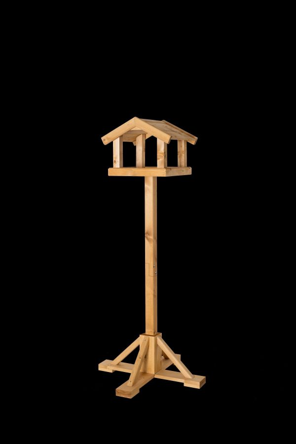 Kelburn Johnston and Jeff sturdy wooden bird table